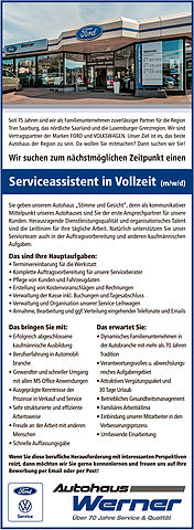 Serviceassistent(in)